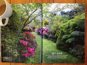Lower Wilmot's Don Dosser, one of the world's greatest rhododendron breeders, featured in Country Style.  Photography: Claire Takacs