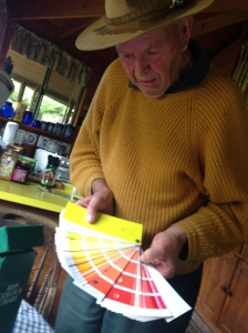 Rhododendron breeder Don Dosser with his RHS rhododendron colour chart